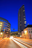 Downtown Eindhoven at night Royalty Free Stock Photos