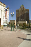 Downtown El Paso Texas in the historic Plaza district, looking towards the Plaza Motor Hotel Stock Images