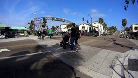 Downtown Encinitas California 1 stock video footage