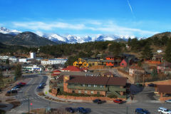 Downtown Estes Park Colorado in the Spring Royalty Free Stock Photo