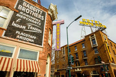 Downtown Flagstaff Cityscape Stock Photo