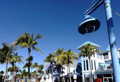 Downtown at Fort Myers Beach, Florida, USA Royalty Free Stock Photo