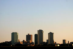 Downtown Fort Worth. Texas as sunset royalty free stock photo