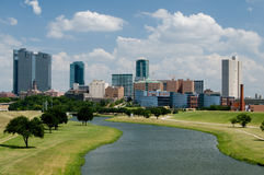 Downtown Fort Worth Skyline. Mid-day view of beautiful downtown Fort Worth, TX skyline stock photo