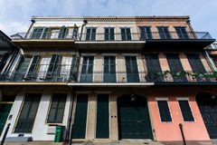 Downtown French Quarters in New Orleans, Louisiana on a Cloudy D Stock Images