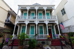 Downtown French Quarters in New Orleans, Louisiana on a Cloudy D Royalty Free Stock Photo