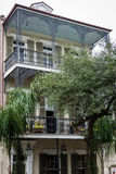 Downtown French Quarters in New Orleans, Louisiana on a Cloudy D Stock Image