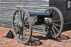 Downtown Ft. Scott KS. Cannon in Fort Scott Kansas Stock Images