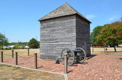 Downtown Ft. Scott KS. Cannon in Fort Scott Kansas Royalty Free Stock Photo