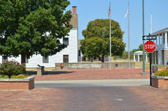 Downtown Ft. Scott KS. The fort entrance in Fort Scott Kansas Stock Photos
