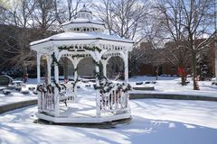 Downtown Gazebo Royalty Free Stock Photography