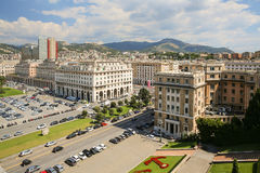 Downtown Genoa in Italy Royalty Free Stock Image