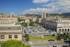 Downtown Genoa in Italy Stock Image