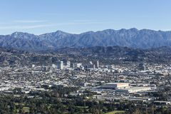 Glendale California and the San Gabriel Mountains royalty free stock photography