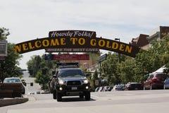 Downtown Golden Colorado stock photo