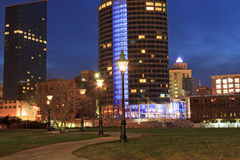 Downtown Grand Rapids at Night Stock Photography
