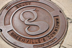Downtown Greenville, SC royalty free stock images