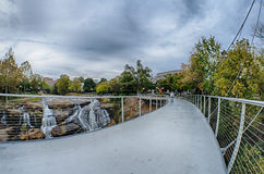 Downtown of greenville south carolina around falls park royalty free stock image
