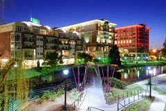 Downtown Greenville, South Carolina Stock Photos
