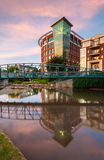 Downtown Greenville South Carolina Reedy River Reflections Royalty Free Stock Photography