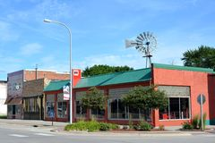 Downtown Griswold Iowa. View of the storefronts of downtown Griswold, Iowa Stock Photography