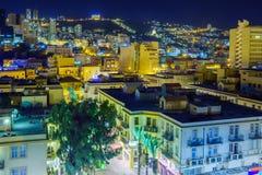 Downtown Haifa at night Stock Photo