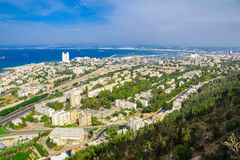 Downtown Haifa, Port and Bay Stock Photos