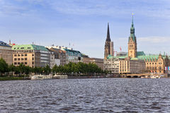 Alster Lake, Hamburg Germany Stock Photos