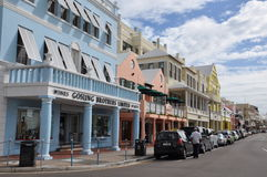 Downtown Hamilton in Bermuda Stock Photo