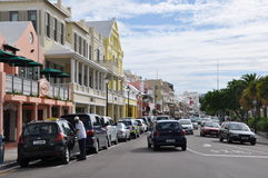 Downtown Hamilton in Bermuda Stock Images