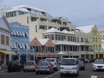 Downtown Hamilton in Bermuda Stock Photography