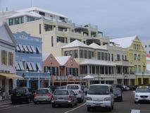 Downtown Hamilton in Bermuda Stock Photography