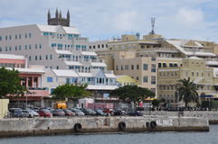 Downtown Hamilton in Bermuda Royalty Free Stock Photos