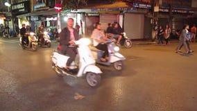 Downtown Hanoi, Traffic, Travel Vietnam stock video footage
