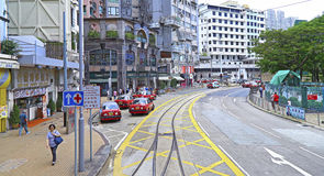 Downtown happy valley, hong kong Stock Images