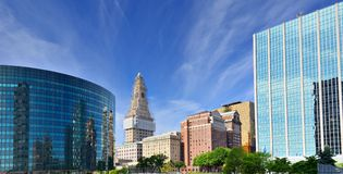 Downtown Hartford, Connecticut Skyline Royalty Free Stock Image