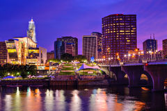 Downtown Hartford, Connecticut Skyline Stock Image
