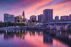 Downtown Hartford, Connecticut Skyline Royalty Free Stock Photo