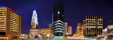 Downtown Hartford, Connecticut Skyline stock images