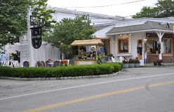 Kennebunkport, Maine, 30th June: Downtown Historic Inn from Kennebunkport in Maine state of USA. Downtown Historic Inn from Kennebunkport Resort in Maine state stock photo
