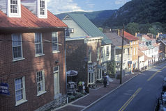 Downtown in historical Harpers Ferry, Stock Image