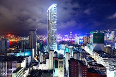 Downtown in Hong Kong Royalty Free Stock Photography