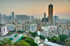 Downtown of Hong Kong. High density, poor area stock photo