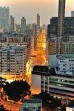 Downtown of Hong Kong. High density, poor area stock image