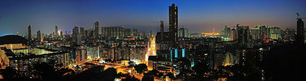 Downtown of Hong Kong. High density, poor area stock photography
