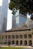 Downtown Hong Kong. Old meets new in beautiful downtown Hong Kong Stock Photography