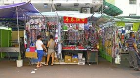 Downtown hong kong : apliu street, sham shui po Royalty Free Stock Photos
