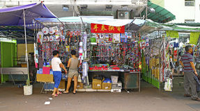 Downtown hong kong : apliu street, sham shui po Royalty Free Stock Photos