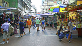 Downtown hong kong : apliu street, sham shui po Royalty Free Stock Image