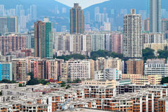 Downtown of Hong Kong city Stock Photo